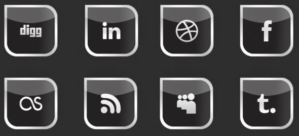social media icons pack xD
