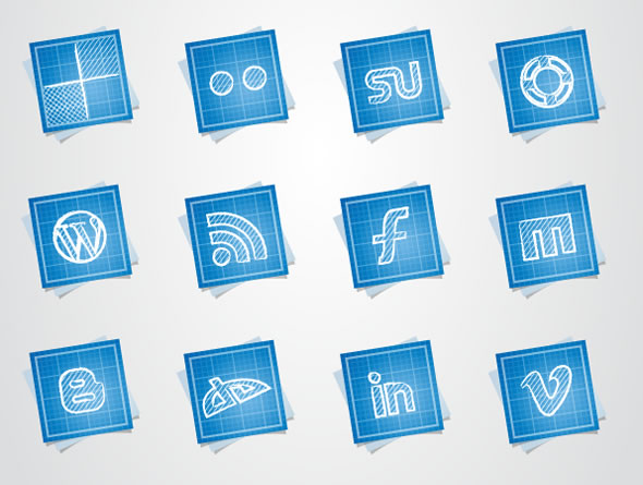 Blueprint Social Media Icons