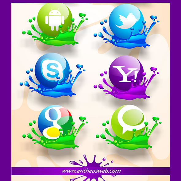 Free Splash Social Media Icons