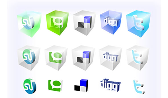 Social Bookmark Icons - 2D