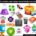 115 Creative and Unique Social Media Icon Sets