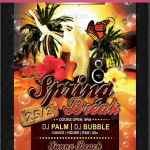 Cool Spring Break Party Flyers