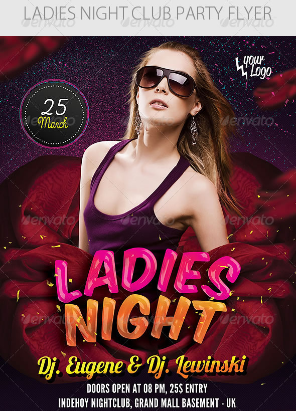 Vibrant Ladies Night Club Party Flyer Templates | Entheos