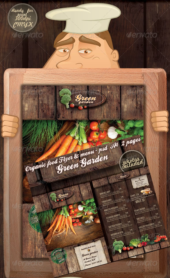 green garden flyer menu restaurant - Restaurant Menu Design Ideas
