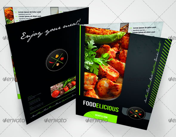 rw foodelicious modern restaurant menu template - Restaurant Menu Design Ideas