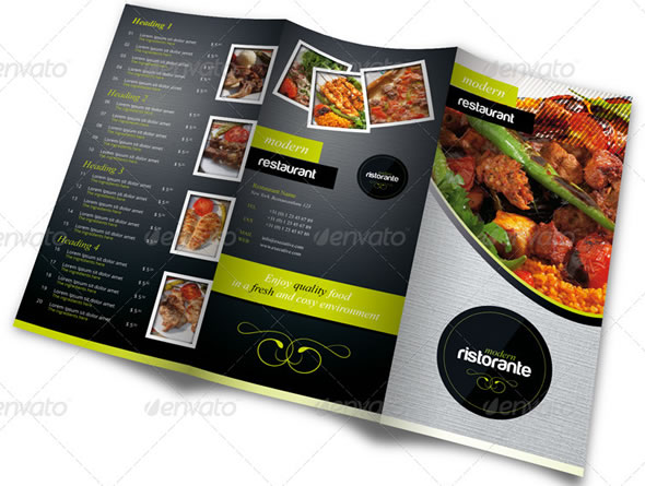 RW Fresh Restaurant Menu Card Template