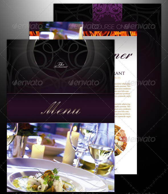 3 Restaurant Menu Templates
