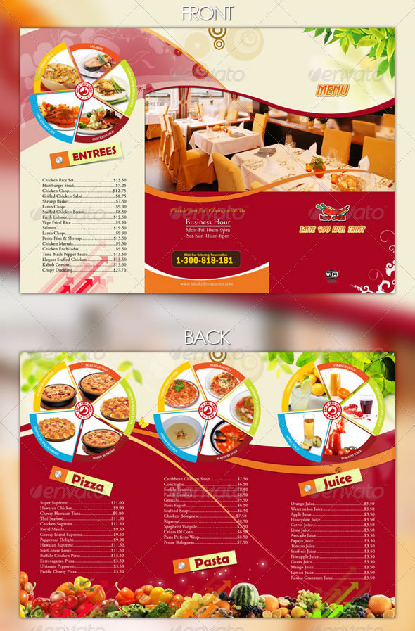 new style menu - Restaurant Menu Design Ideas