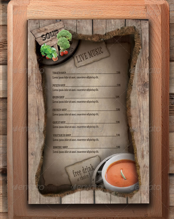 restaurant menu template wild buffalo - Restaurant Menu Design Ideas