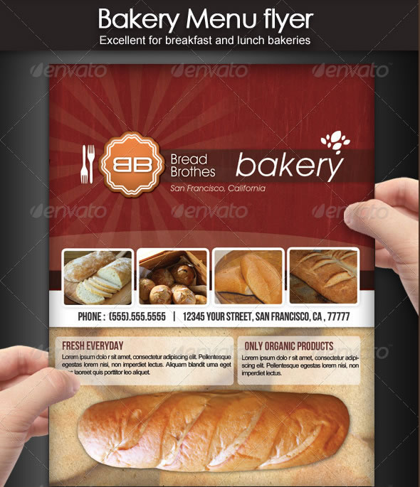 MouthWatering Restaurant Menu Designs – Sample Bakery Menu Template