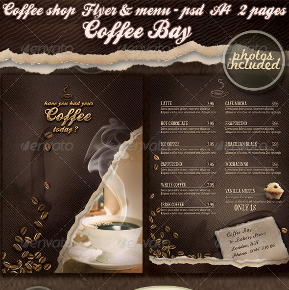 Coffee shop flyer & menu