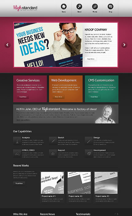 High Standard WordPress Theme