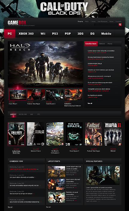 Gamebox Game WordPress Theme