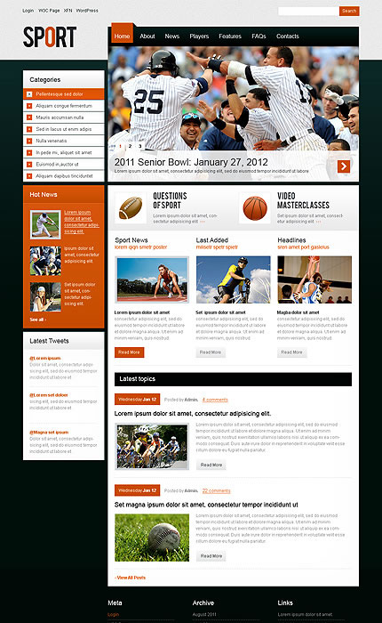 Sport Portal WordPress Theme