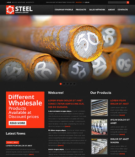 Steel Industrial WordPress Theme