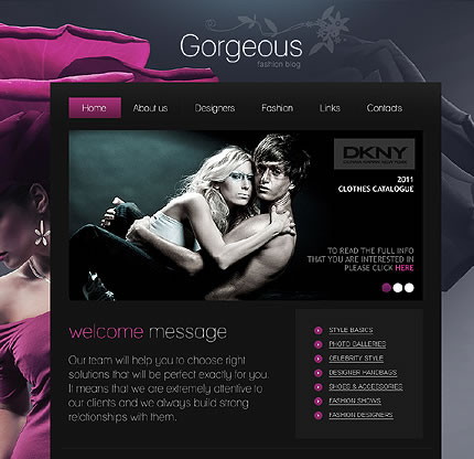 Gargerous Fashion WordPress Theme