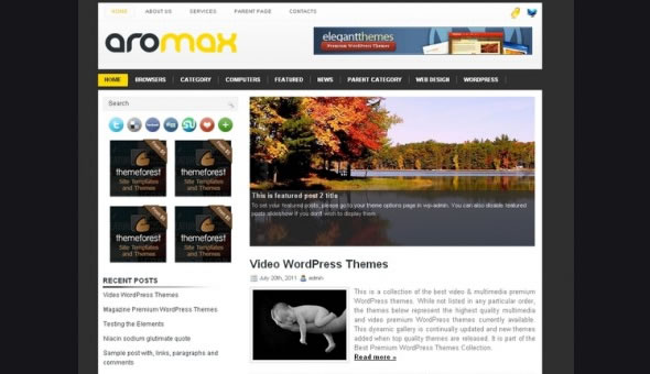 WP-Aromax WordPress Themes