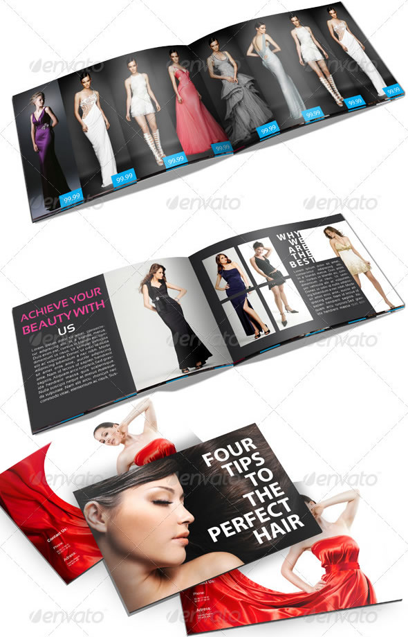 Professional Catalogue Booklet Design Templates – Fashion Design Brochure Template