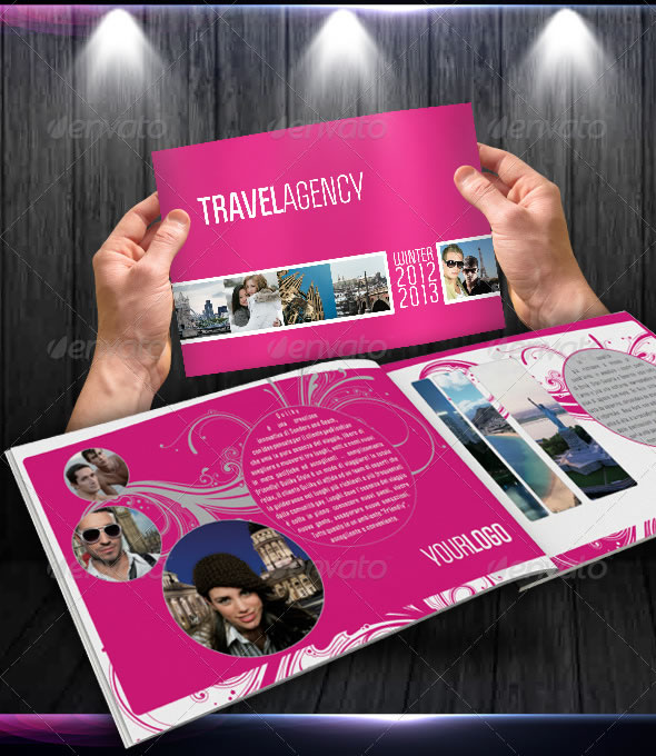 Professional catalogue booklet design templates entheos for Fancy brochure templates