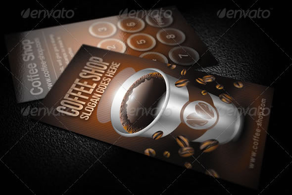 25 delicious coffee design resources entheos coffee shop business card wajeb Choice Image