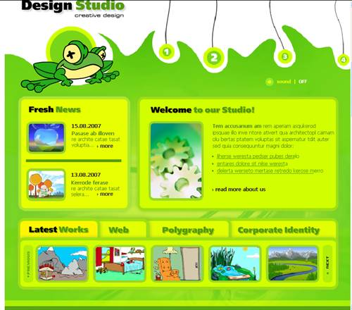 Design Studio Flash Website Template