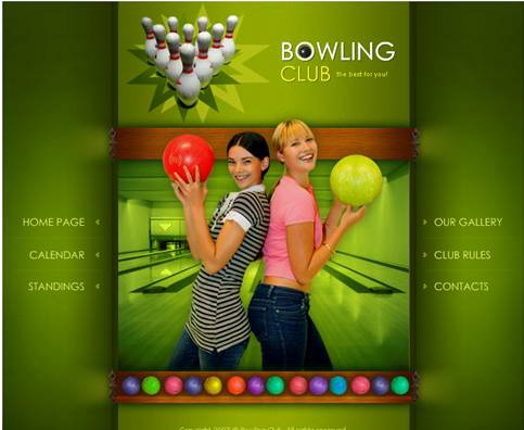 Bowling Club Green Flash Website Template