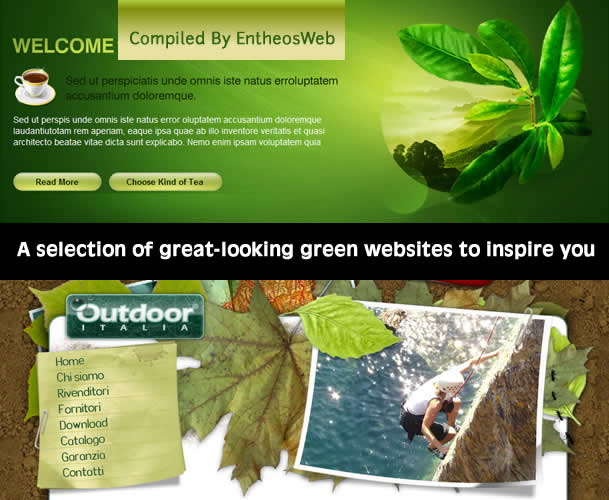 A selection of great-looking green websites to inspire you