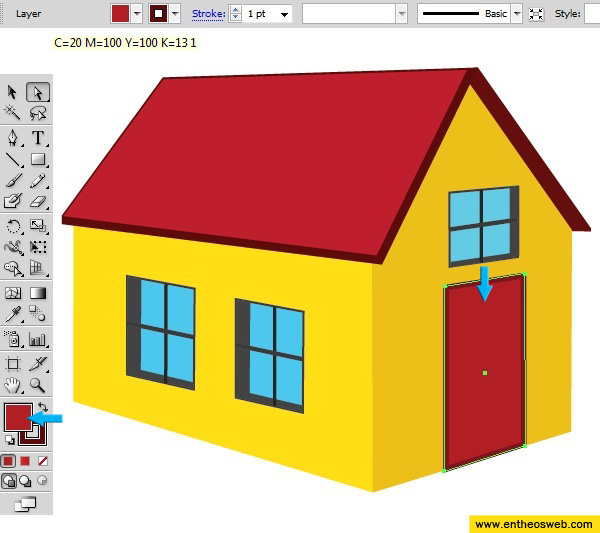 Learn how to create a 3d house vector in illustrator entheos 3d house drawing