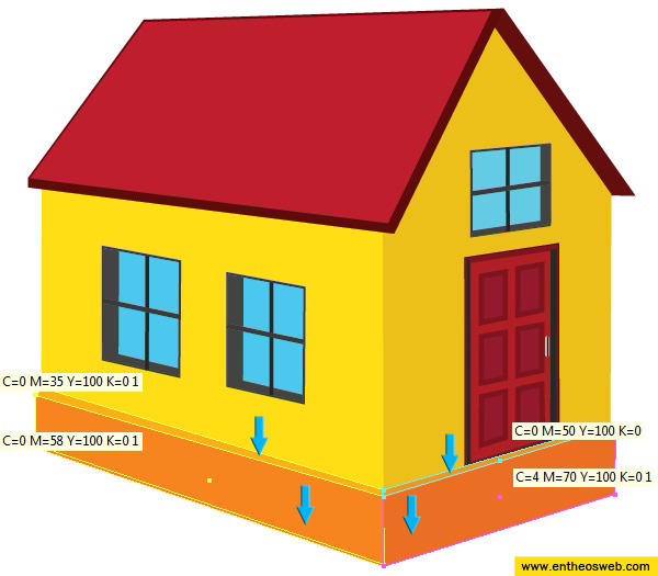 Learn how to create a 3d house vector in illustrator entheos for How to make a house step by step