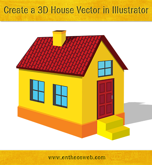 Learn how to create a 3d house vector in illustrator entheos for How to start building a house