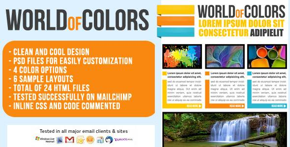 World of Colors Email/Newsletter Template