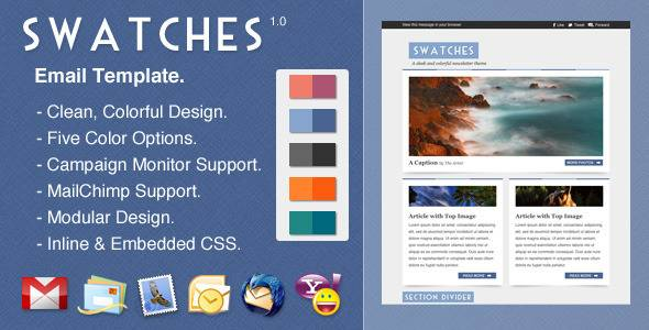 Swatches email template