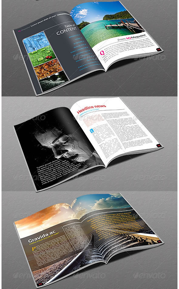 Creative magazine layout design ideas entheos Modern design magazine