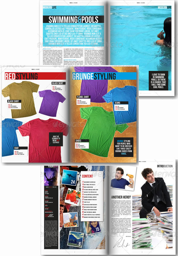 18 Page Indesign A4 Magazine Template