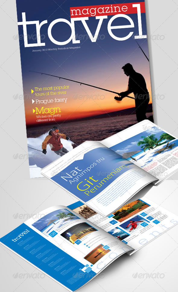 Travel Magazine and Magazine Template