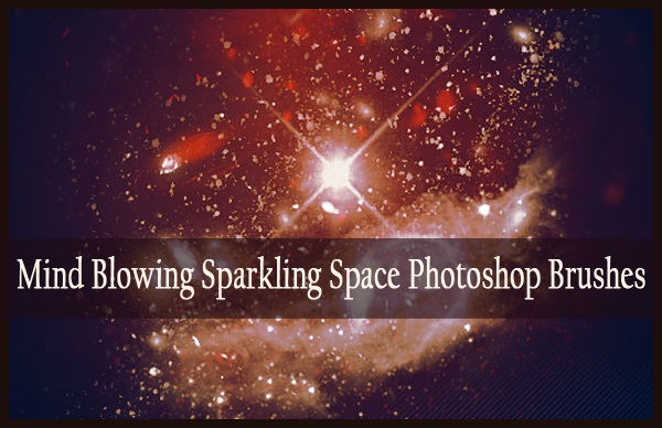mind blowing free sparkling space photoshop brushes