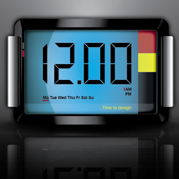Design a 3D Digital Clock Icon with Illustrator