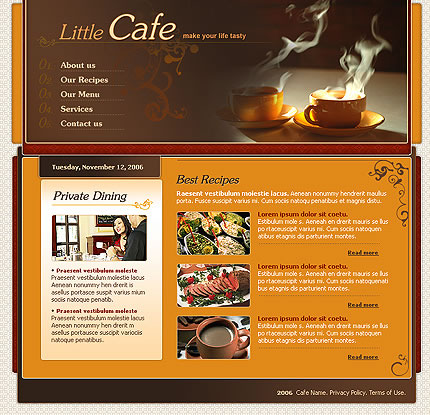 Little Cafe Website Template