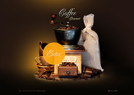 Coffee Gourmet Flash Website Template