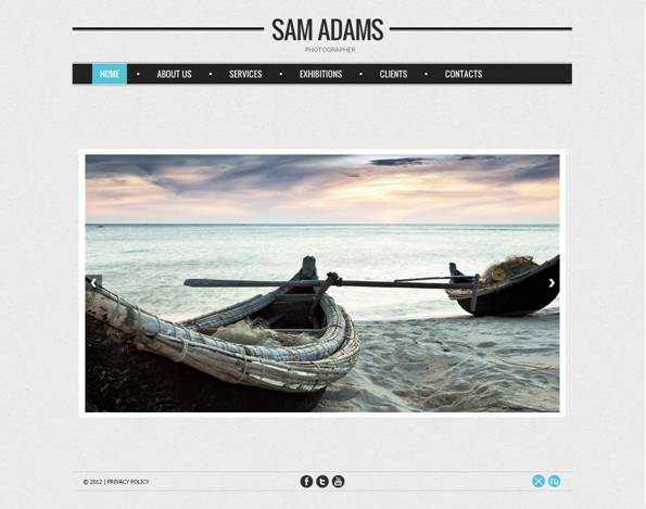 Sam Adams Flash Photo Gallery Template