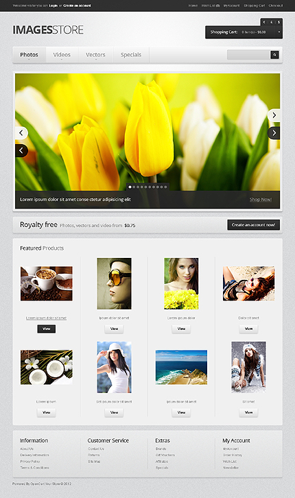 Images Bank OpenCart Template