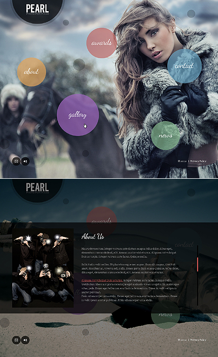 Pearl Photo Flash Website Template