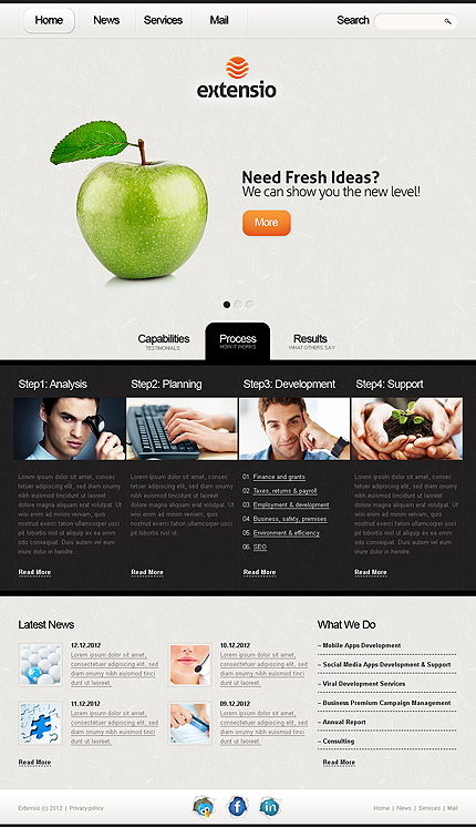 Extensio Business Drupal Template