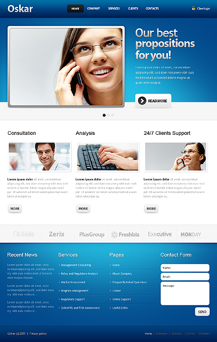 Best and Latest Drupal Website Templates | Entheos