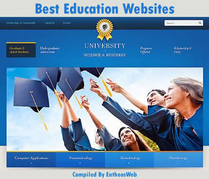 best education website templates entheos