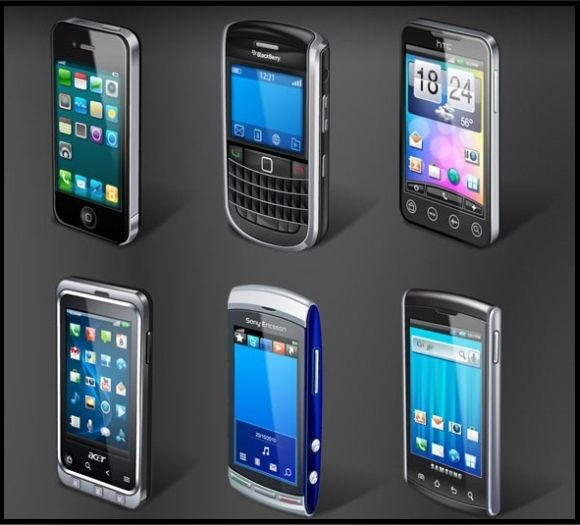 10 Mobile Phone Icons