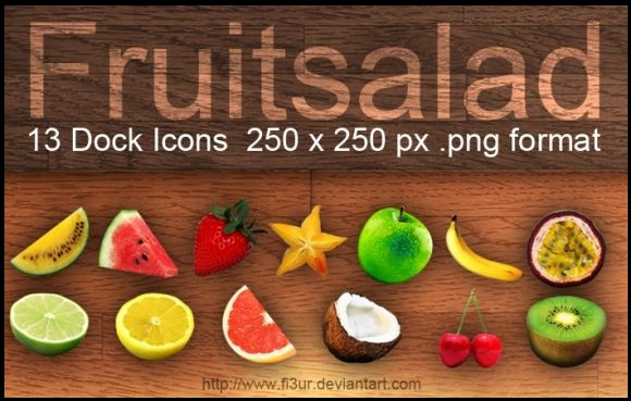 Fruitsalad Dock Icons(13 icons)