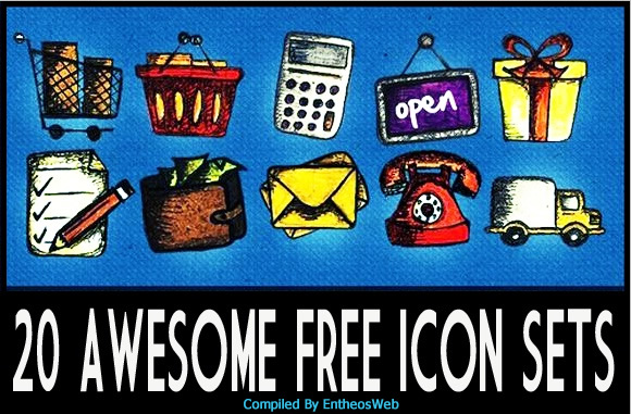 Collection of 20 Awesome Free Icon Sets