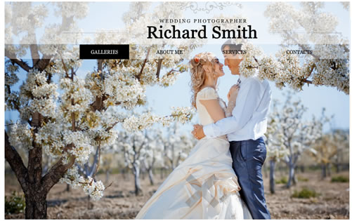 Richard Smith XML Flash Website Template