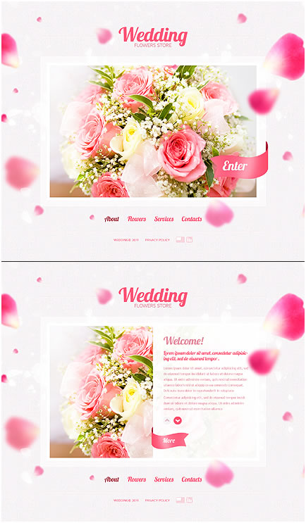 Wedding Flowers Flash Website Template